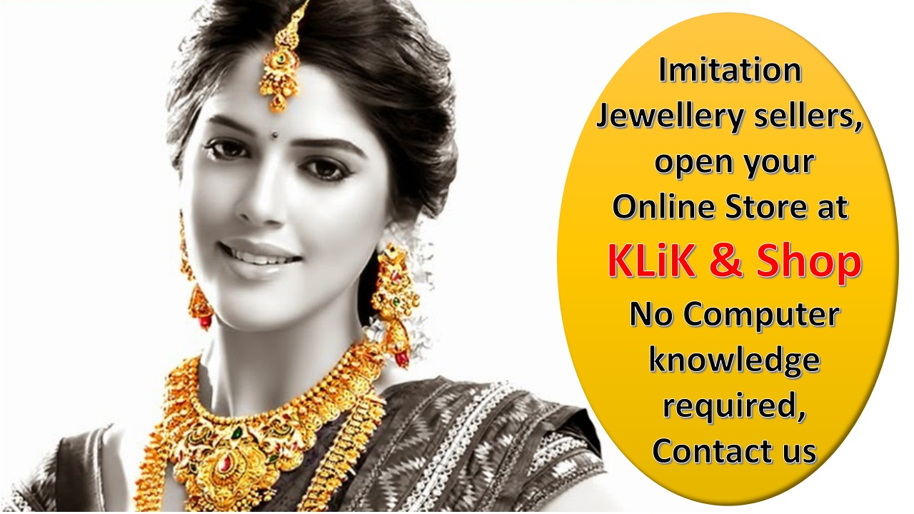 Sell Imitation Jewellery Online, no computer knowledge required..